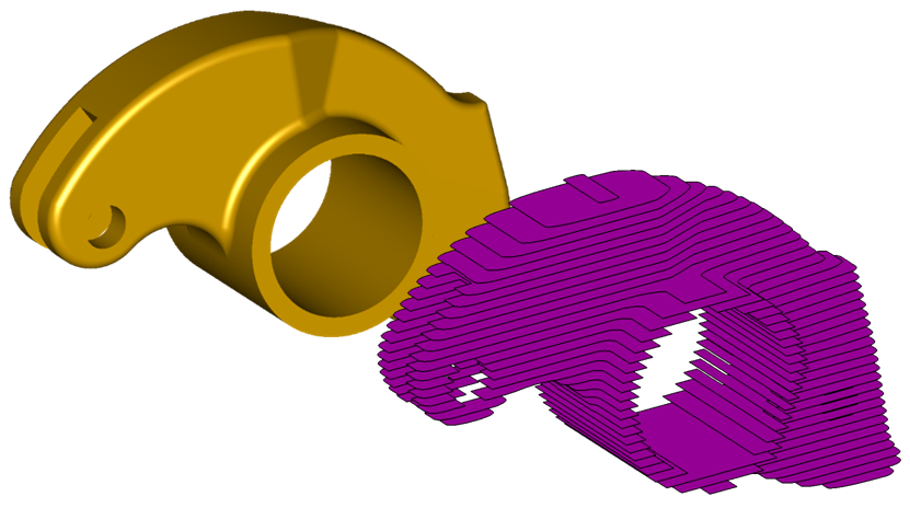 Accurate slice generation for 3D printing
