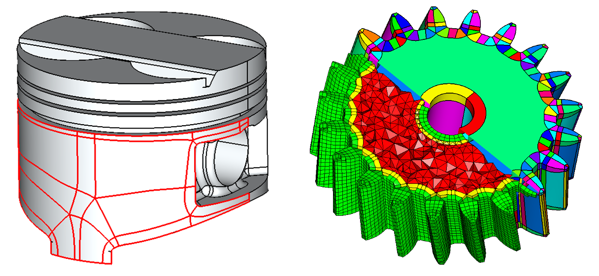 CADfix Automatic subdivision CAD and hex mesh